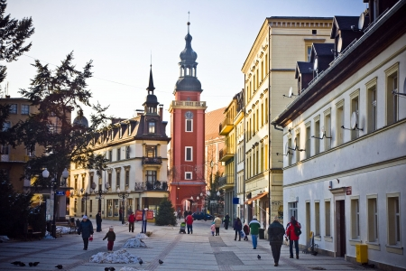 Cieplice city in Winter time, Poland Stock Photo - 18018042