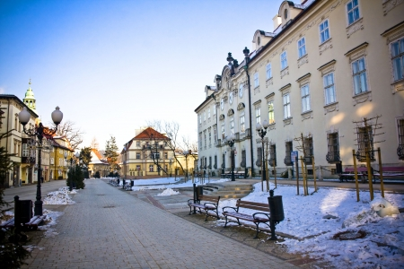 Cieplice city in Winter time, Poland Stock Photo - 18032396