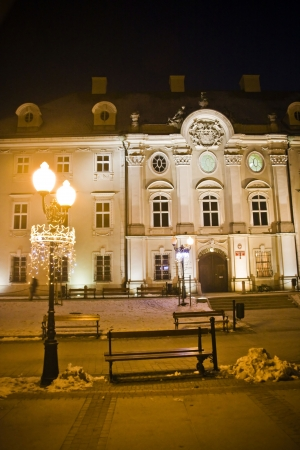Cieplice city in Winter time at night, Poland Stock Photo - 18032384