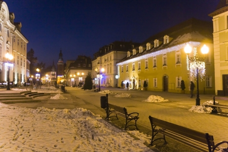 Cieplice city in Winter time at night, Poland Stock Photo - 18032385