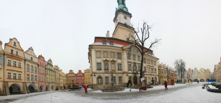 gora: Jelenia Gora in winter time, Poland