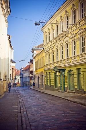 Vilnius oldtown street ,Lithuania photo