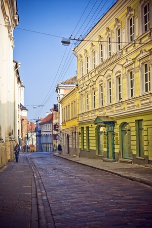 oldtown: Vilnius oldtown street ,Lithuania