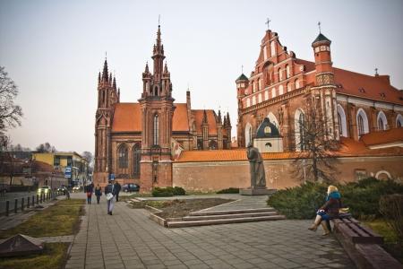 vilnius: St  Anne s and Bernardinu Church in Vilnius, Lithuania