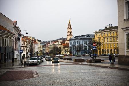 lithuania: Vilnius oldtown street ,Lithuania