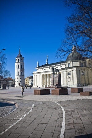 oldtown: Vilnius oldtown street in sunny day Editorial