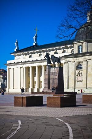 vilnius: Vilnius oldtown street in sunny day Editorial