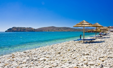 amazing beach with cristalic clean water, Crete