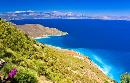 the amazing view on turquise water, Crete, Greece