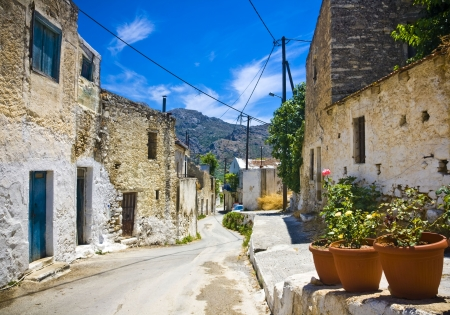 Typical village in Crete Stock Photo - 18091963