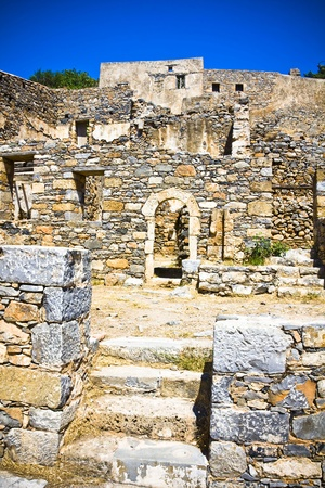 lepra: Spinalonga Fortaleza Grecia - Colony ?tima vez activo Lepra