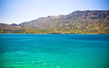 Amazing and colorful landscape from a Crete, Greece photo