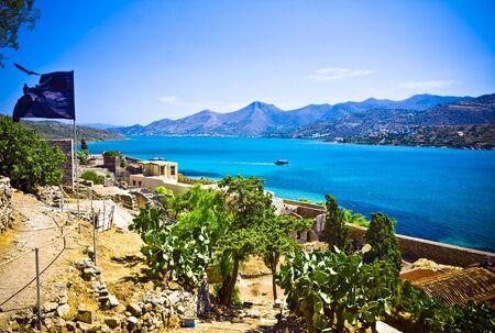 l�pre: Spinalonga Forteresse Gr�ce - Derni�re colonie l�pre active Banque d'images