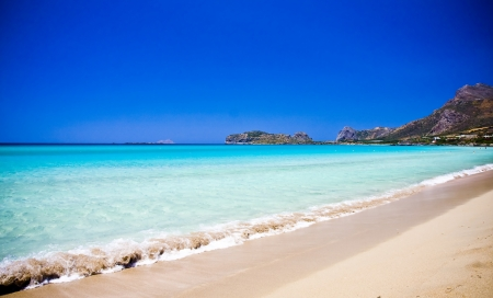 Falsarna beach in Crete, Greece