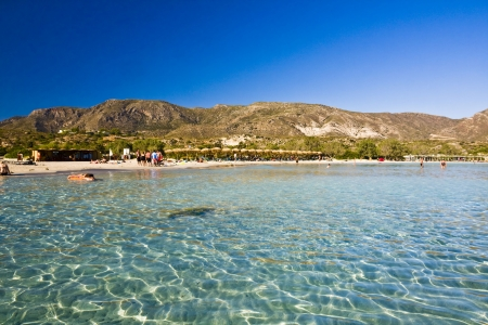Elafonisi beach, Crete, Greece Stock Photo