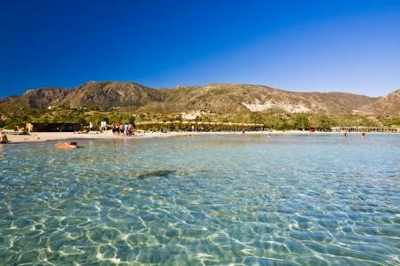Elafonisi Strand, Kreta, Griechenland Standard-Bild
