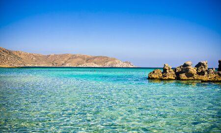 Elafonisi beach, Crete, Greece Stock Photo