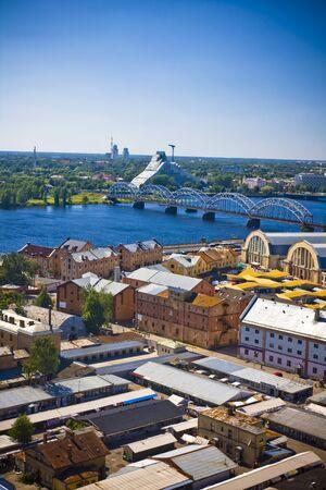riga: The panorama view of Riga, Latvia