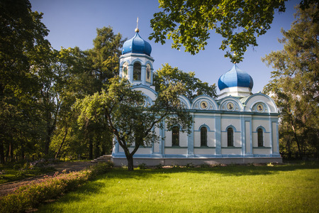 the orthodox church: Beautiful orthodox church in Cesis, Latvia, Europe