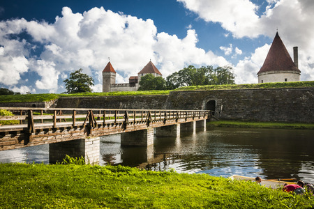 Kuressaare (Saaremaa island, Estonia, Europe) Stock Photo