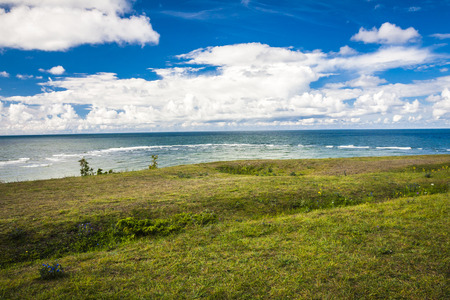 estonia: Panga Pank - highest cliff in Saaremaa,Estonia