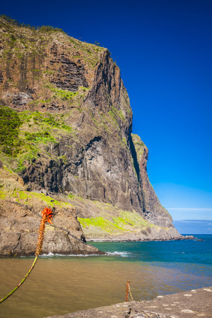 beautiful landscape with the ocean on Maderia island, from Faial village
