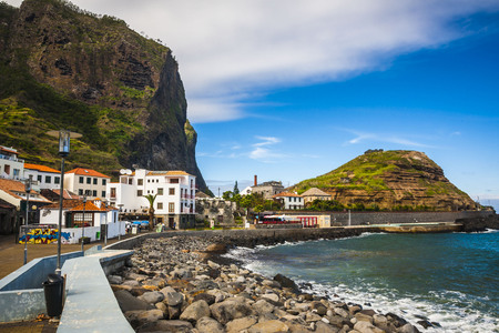 beautiful landscape with the ocean on Maderia island, from Faial village Banco de Imagens - 61986316