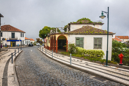 Main street in Santana city, Madeira, Portugal