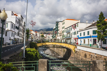 center city: The old historic town center of Funchal, Madeira island, Portugal Stock Photo