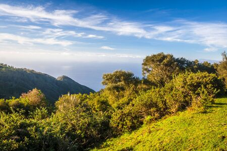 thoroughfare: beautiful landscape with sunset in Madeira island. Portugal