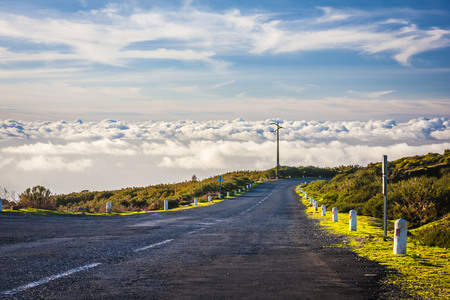 empty road on the Madeira island. Portugal