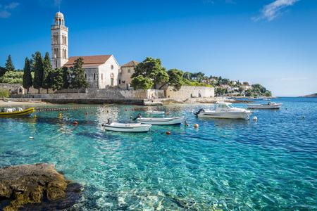 Prachtige stad Hvar, Kroatië