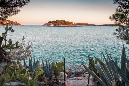Beautiful Hvar city, Hvar island, Croatia Stock Photo