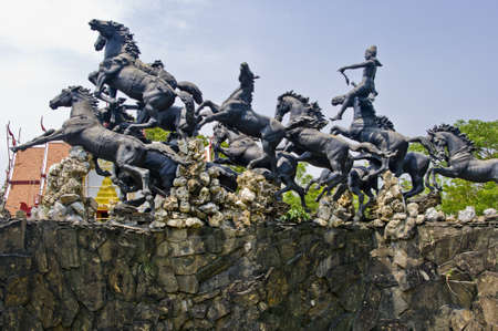 Statues of mythological dieties in Thailand