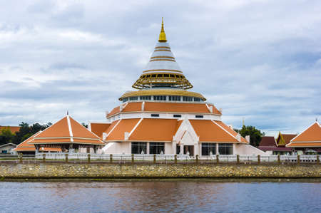 cone shaped: Beautiful cone shaped architecture on banks of rive Kwai Kanchanaburi