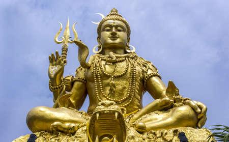 shankar: Huge majestic towering statue of Diety Shankar in Bangkok