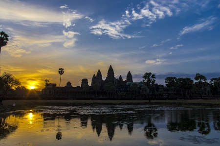 Sunrise at Angkor Wat Siem Reap Cambodia photo