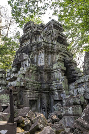Outer structure of the Ta Prohm temple at Angkor in Siem Reap Cambodia photo