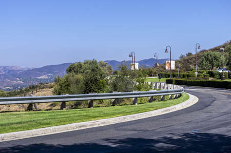 ronald reagan: Simi Valley, California - June 8, 2013 : Drive way to the Ronald Reagan Presidential Library & Museum, Simi Valley, CA. Editorial