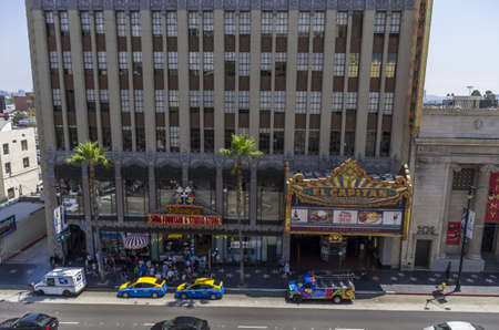 Los Angeles, California - June 9th, 2013 : The El Capitan Theatre is a fully restored movie palace at 6838 Hollywood Boulevard in Hollywood. The theater and adjacent building is owned and operated by The Walt Disney Company and as such, serves as the venu