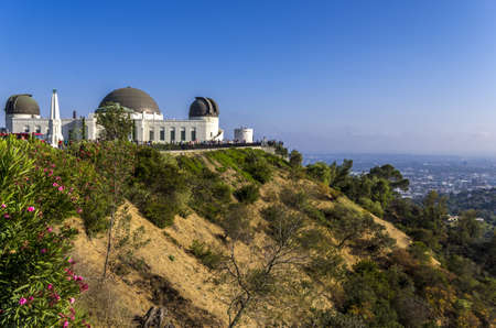 griffith: Los Angeles, California - June 9th, 2013 : Griffith Observatory is a facility sitting on the south-facing slope of Mount Hollywood in Los Angeles Editorial