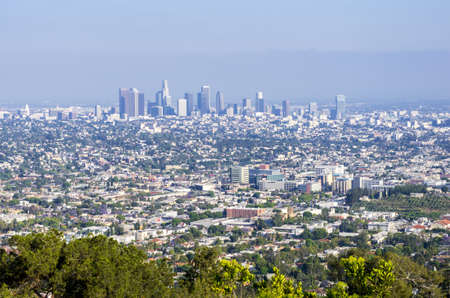 This is the view of Los Angeles basin including downtown Los Angeles from the south side photo