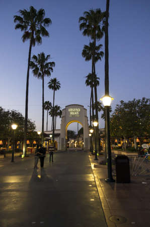 Universal City, California - June 10, 2013 : Entrance to the Universal Studios Hollywood. It is a movie studio and theme park in the unincorporated Universal City community of Los Angeles County, California, United States. It is one of the oldest and most