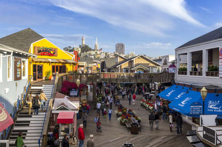 San Francisco, California - June 12, 2013 : Pier 39
