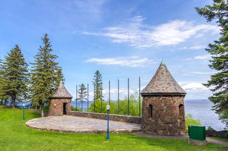 Duluth, Minnesota, Leif Erikson park in Duluth Minnesota Stock Photo