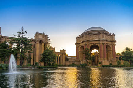 San Francisco, CA - June 22, 2013   The Palace of Fine Arts in the Marina District of San Francisco, is a monumental structure originally constructed for the 1915 Panama-Pacific Exposition in order to exhibit works of art presented there  It is also popul