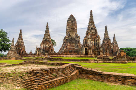 The Ayutthaya historical park covers the ruins of the old city of Ayutthaya, Thailand  photo