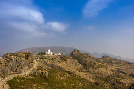 The Mount Abu Observatory at Mount Abu, Rajasthan  The observatory is at an altitude of 1680 metres and is adjacent to Guru Shikhar, highest peak of the Aravalli Range  Stock Photo