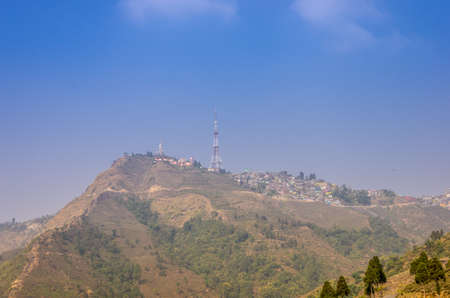 dow: Kurseong town atop the Dow Hill in Darjeeling province of West Bengal state in India