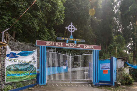 west bengal: Kurseong, Darjeeling province - January 8th, 2014   The gate of Goethals Memorial School  It is a boarding school run by the Congregation of Christian Brothers in Kurseong Hill station of Darjeeling province in West Bengal, India